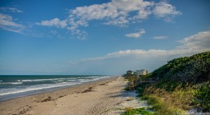 Scenic beach in Satellite Beach Florida - Beachside Apartments