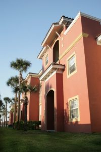 The Outside View of a Beachside Apartments Condo