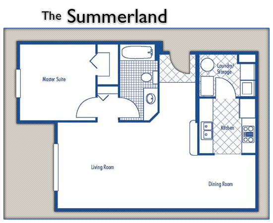 Brevard County Rentals, The Summerland Floor Plan Image - Beachside Apartments