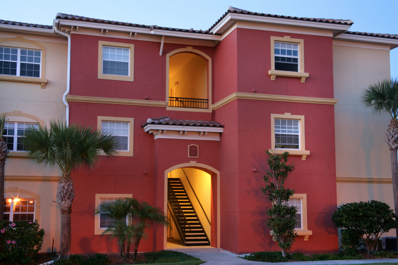facade of our apartment homes for rent Satellite Beach on Merritt Island, Florida